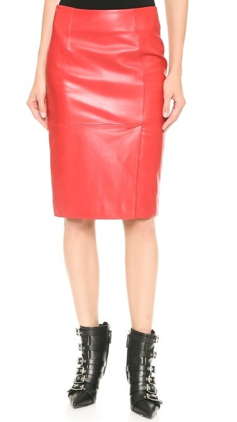 Cheap and Chic Leather Skirt