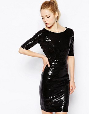 Sugarhill Boutique Dazzle Sequin Dress With Heart Cut Out