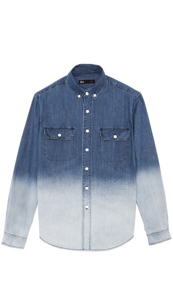Dark Ombre Denim Work Shirt