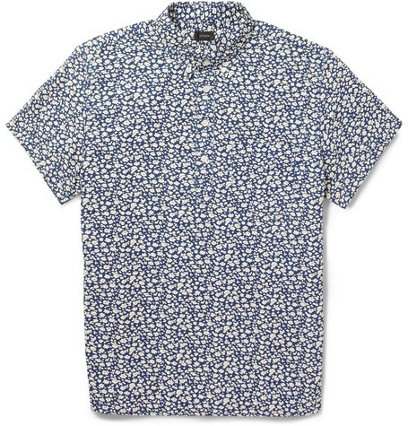 Printed Short-Sleeved Cotton Shirt
