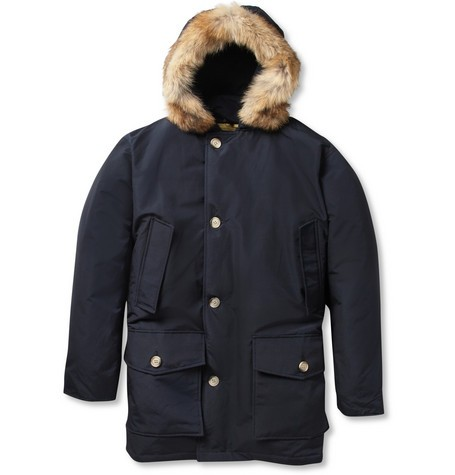 Arctic Parka Coyote-Trimmed Down-Filled Coat