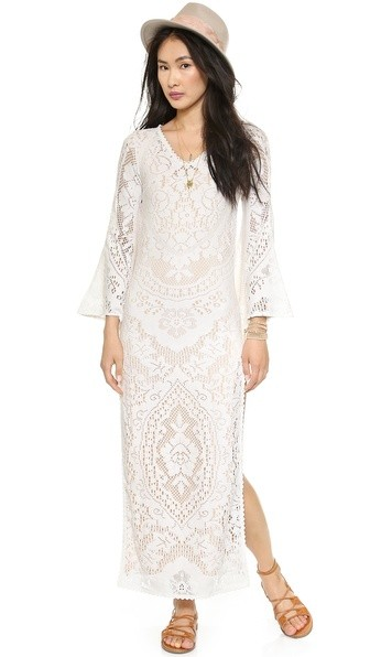 White Dove Vintage Lace Maxi Dress