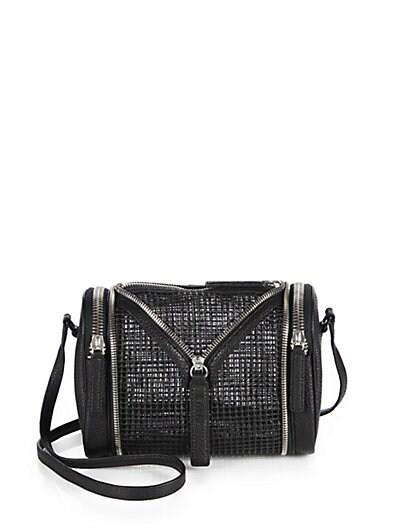 Double Date Mesh & Leather Shoulder Bag