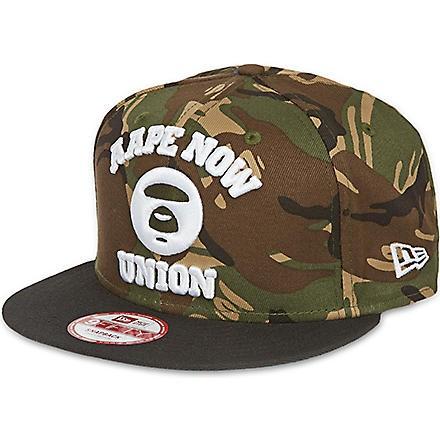 Camouflage snapback cap