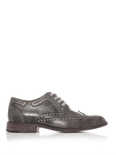 Davis burnished leather brogues
