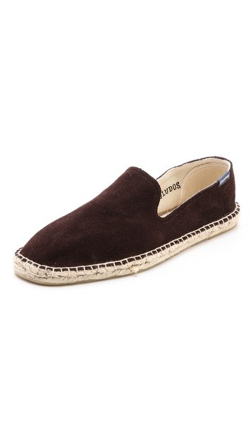 Suede Smoking Slipper Espadrilles