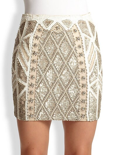 Geo Sundown Embellished Mini Skirt