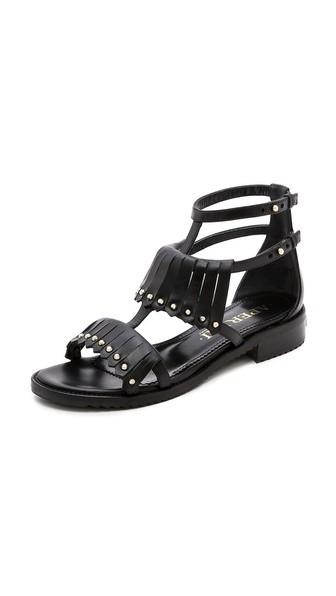 Fringe Studded Sandals