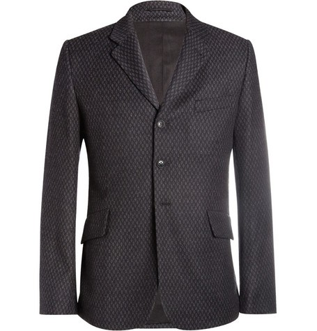 Printed Wool and Cashmere-Blend Blazer