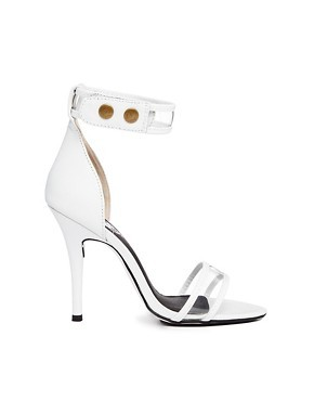 Sol Sana Hero White Transparent Strap Single Sole Sandals