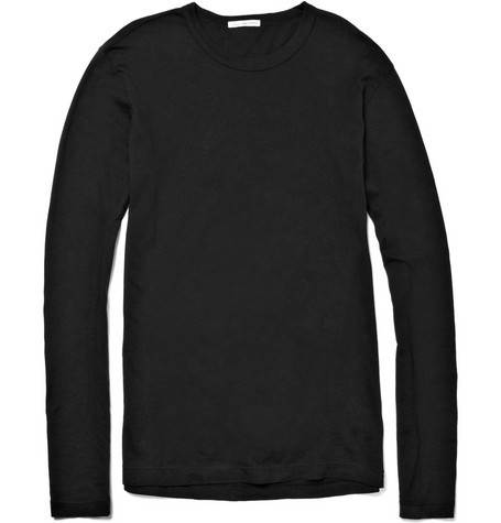 Long-Sleeved Cotton-Jersey T-Shirt