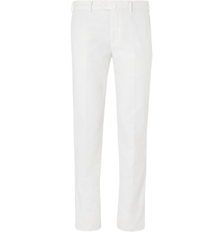 Slim-Fit Cotton-Blend Chinos