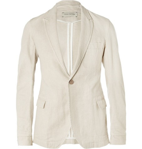 Bampton Slim-Fit Unstructured Linen and Cotton-Blend Blazer