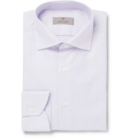Lilac Cotton-Oxford Shirt