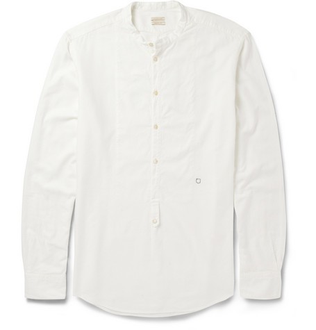 Half-Placket Modal and Cotton-Blend Shirt