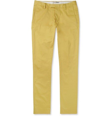 Max Satin Slim-Fit Cotton-Blend Trousers