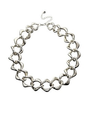Designsix Silver Chunk Chain Necklace