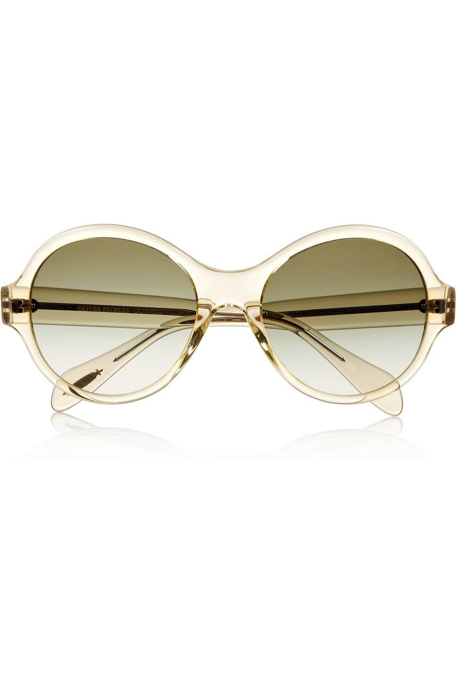 Lipsofire round-frame acetate sunglasses
