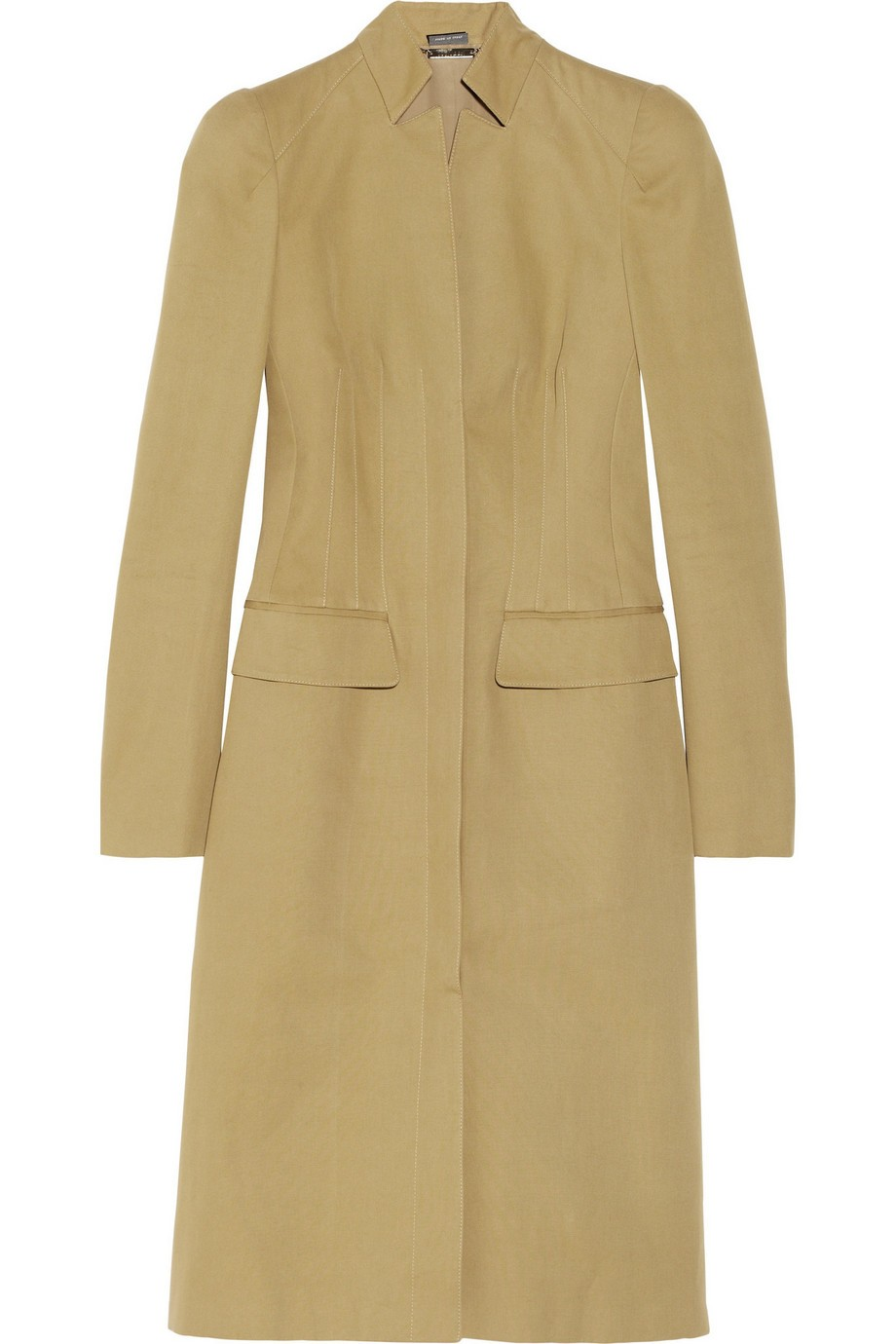 Cotton-canvas coat
