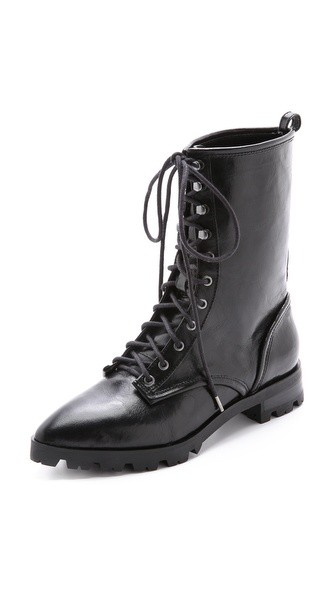 Gretchen Pointed Toe Combat Boots