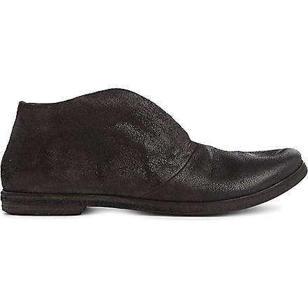Slip on leather brogues