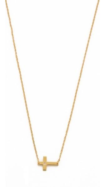 Theresa Mini Diamond Cross Necklace