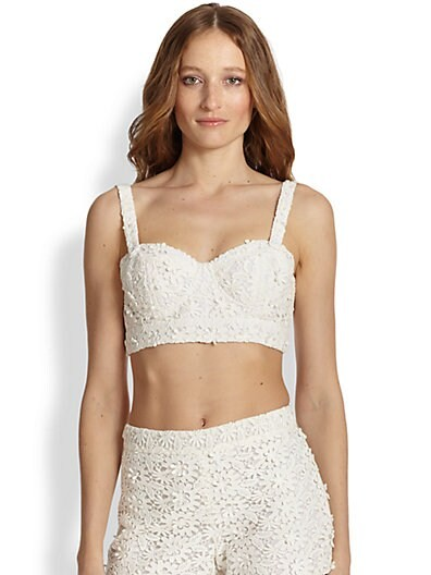 Azieb Crocheted Floral Lace Bralette Top