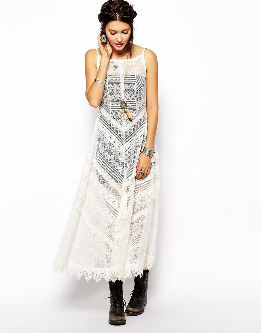 Free People Slip Dress in Lace