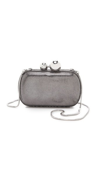 Sphere Metallic Tweed Clutch