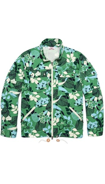 Flower Print Team Jacket