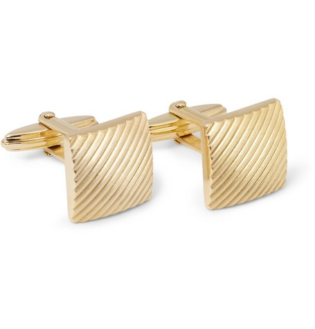 Engraved Gold-Plated Cufflinks