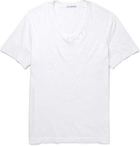 V-Neck Cotton-Jersey T-Shirt
