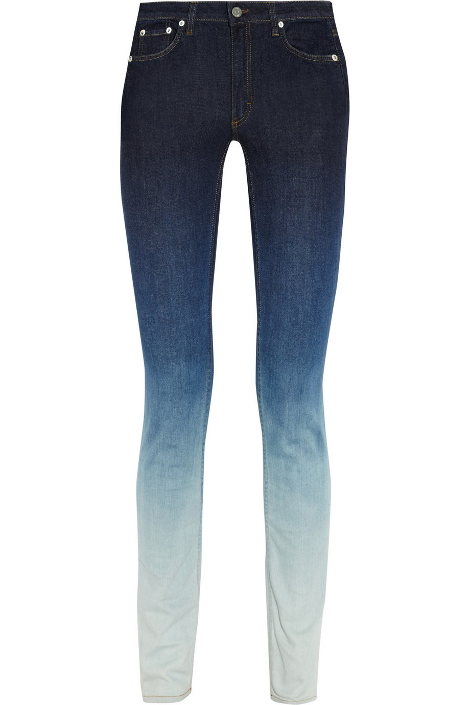 Ombré mid-rise skinny jeans
