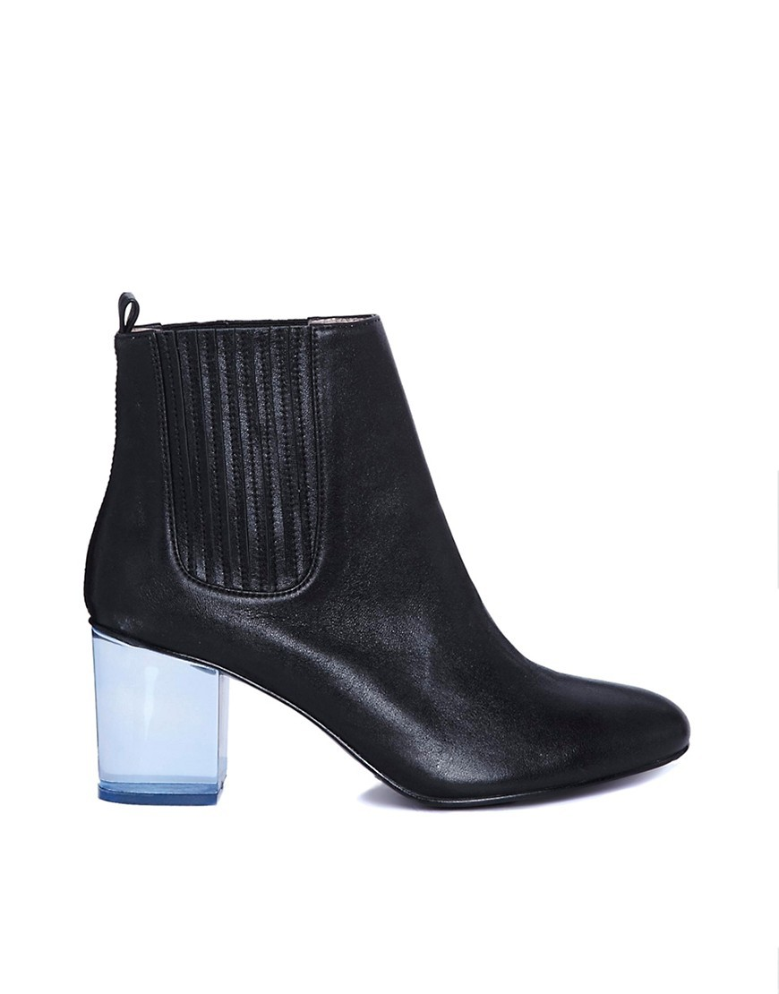 Opening Ceremony Brenda Transparent Heeled Ankle Boots