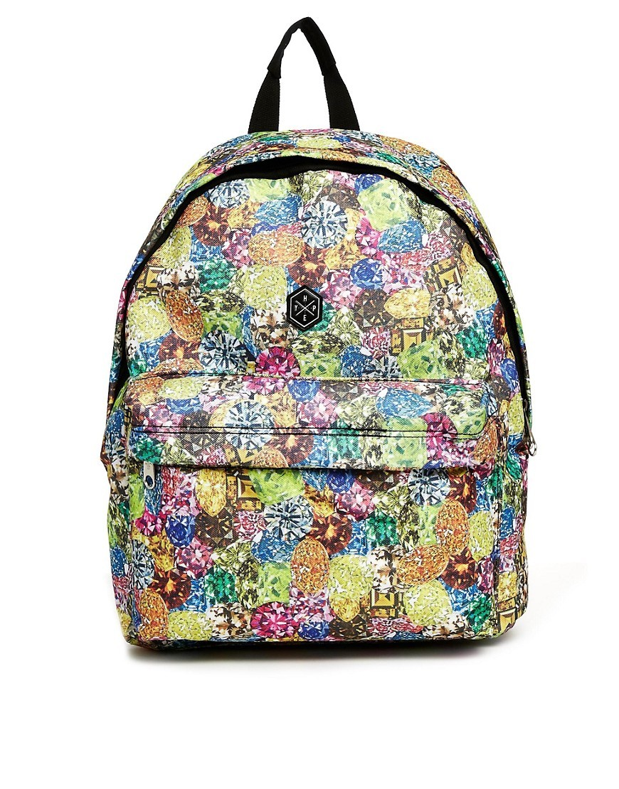 Hype Backpack in Jewel Print