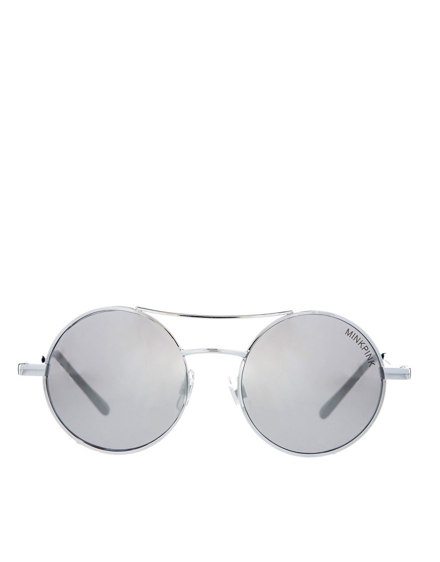 Minkpink Steamed Up Round Sunglasses