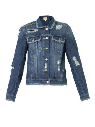 Heidi destructed-denim jacket
