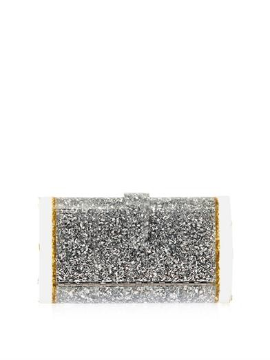 Lara backlit confetti box clutch