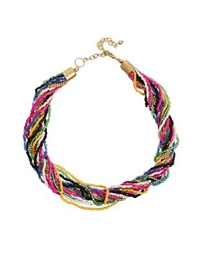 ASOS Seedbead Twist Necklace