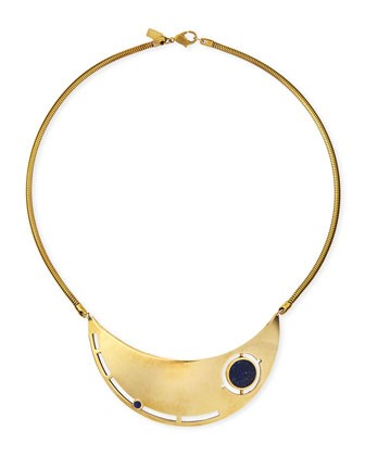 Rotation Lapis Breast Plate Necklace
