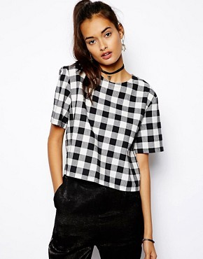 ASOS Check Tee Top