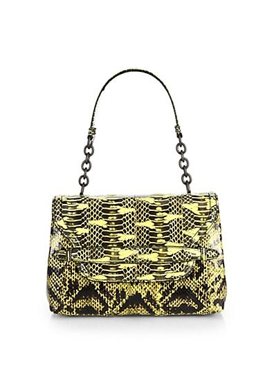 Ayers Snakeskin Small Shoulder Bag