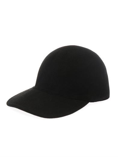 Felt-wool baseball cap