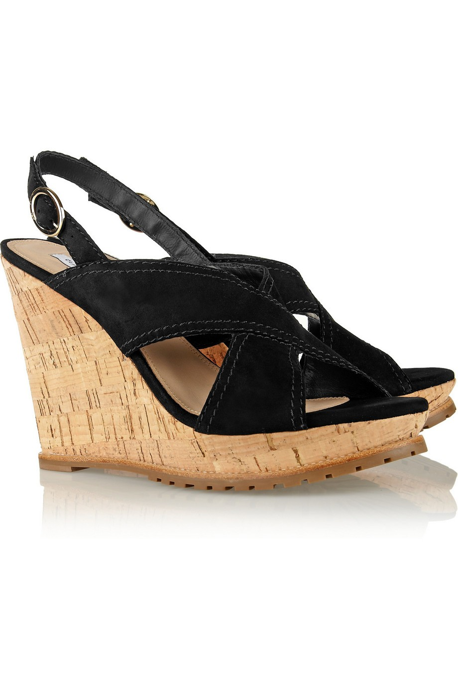 Sylvia suede wedge sandals