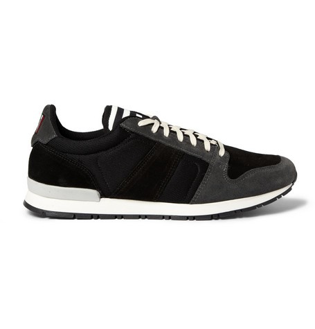 Suede and Mesh Panelled Sneakers