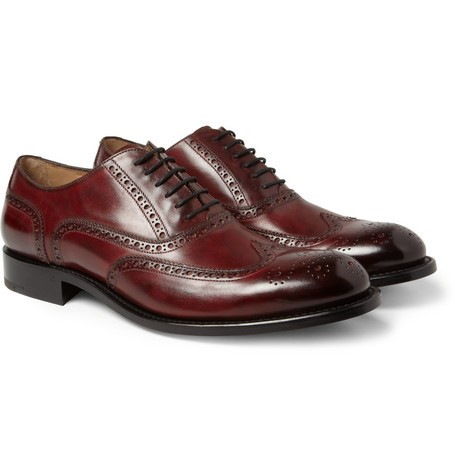 Algy Hand-Polished Leather Wingtip Brogues