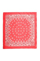 Bandana Print Scarf in Lipstick Red & White