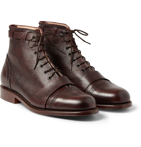 Foot The Coacher Pebble-Grain Leather Boots