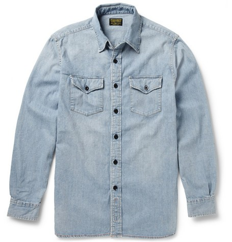 Washed Selvedge Denim Shirt