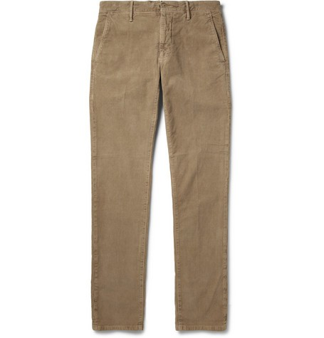 Slim-Fit Garment-Dyed Corduroy Trousers